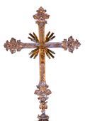 golden altar cross